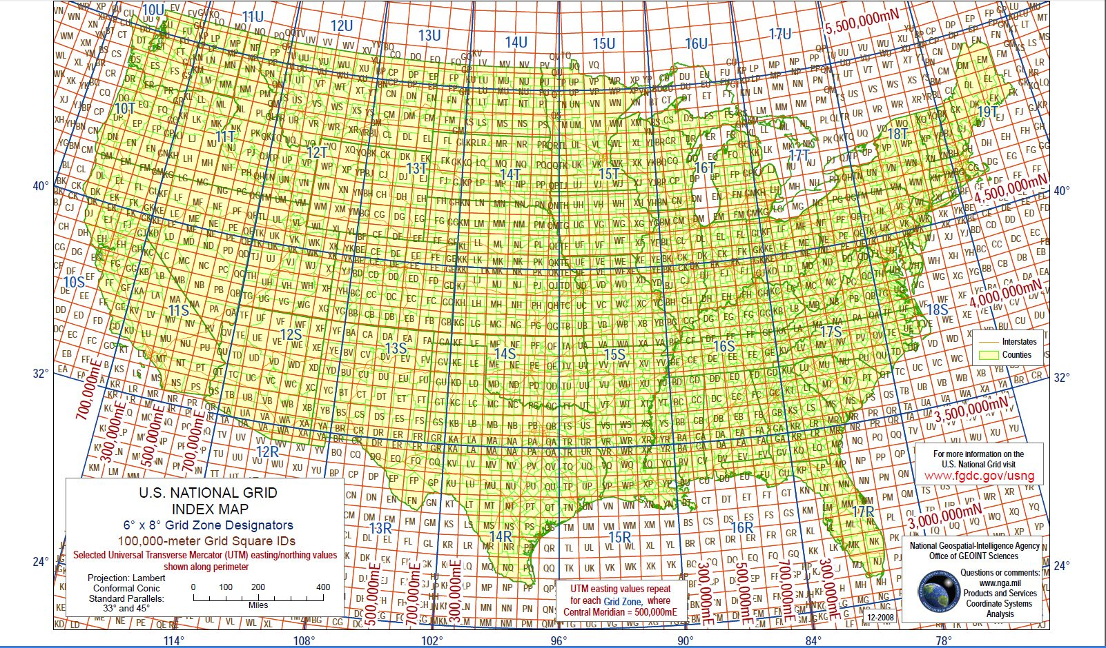 United States Map Latitude And Longitude.Military Grid Reference System
